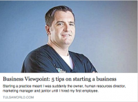 5 Tips to Starting a New Business by Dr. Chris Tricinella